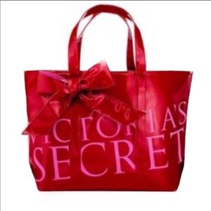 Victoria's Secret   Red & Pink Tote with Bow